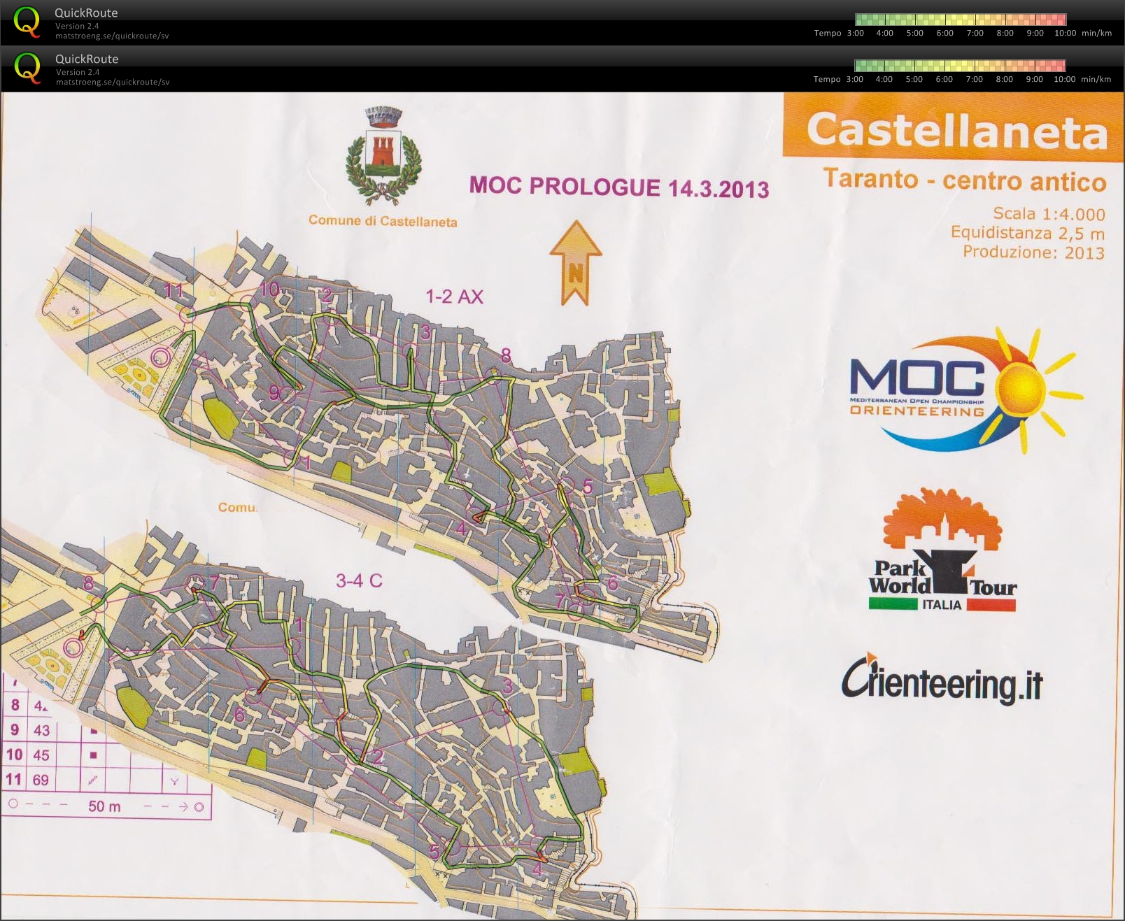 Sprint stafett - MOC prolog (2013-03-14)