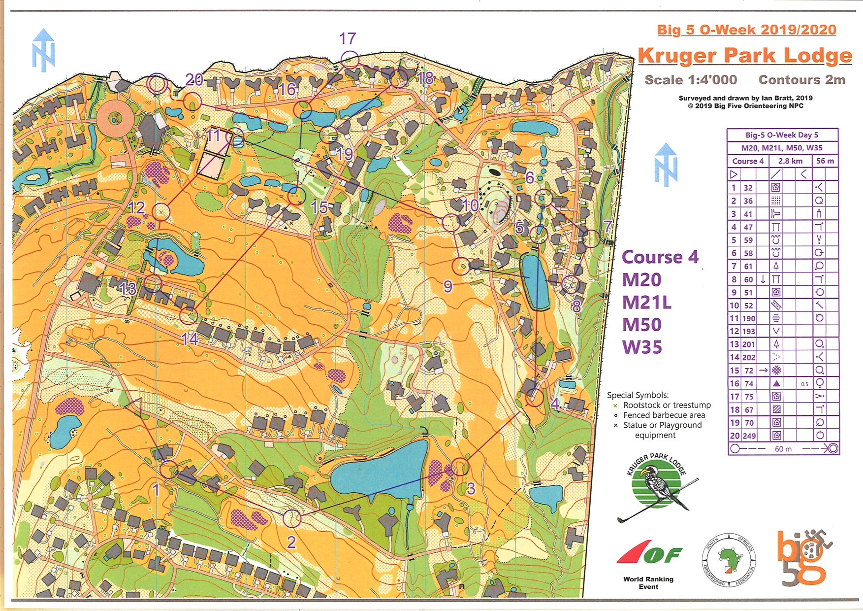 Picture of: Big 5 O Week Day5 January 3rd 2020 Orienteering Map From Robert Palm