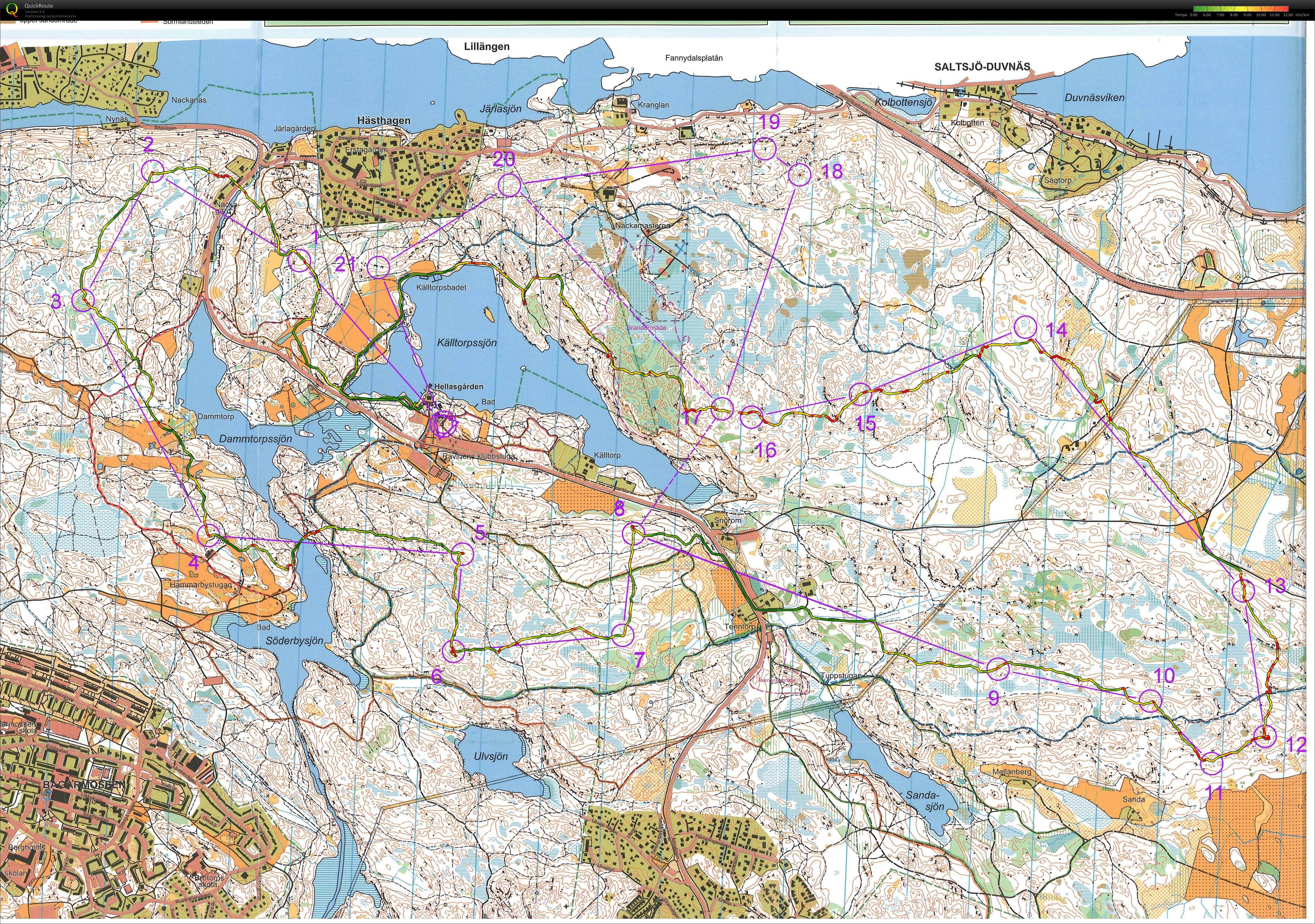 hellasgården karta Mitt digitala kartarkiv :: Långpass Hellasgården (2015 10 27) hellasgården karta